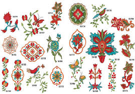 AD-1485 Bohemian Chic Embrodiery Designs