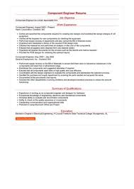resume same sample component engineer resume how to write component