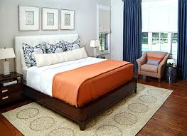 View In Gallery Sapphire Curtains In A Sophisticated Bedroom