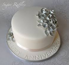 Wedding Cakes Silver Happy Anniversary Cake Designs