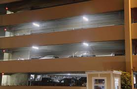this parking garage in dallas was recently retrofit with led lighting fixtures