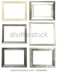 white collage frame of frames isolated on 8x10 picture wall wood