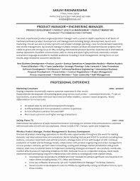 Resume Format Software Developer Unique Engineering Manager Resume
