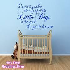 baby boy wall art stickers
