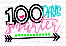 100 Days Of School Applique Design 100 Days Smarter Clipart