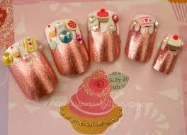 Candyland Fake Nails Pink Foil Dessert Fantasy Kawaii 3D