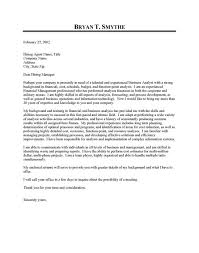 Business Analyst Cover Letter Samples Guve Securid Co Within Cover