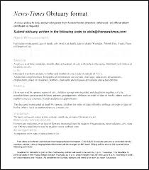 The Times Newspaper Template Times Newspaper Template Sample Obituary Wording