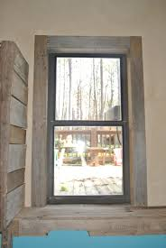 Shaker Window Trim Rustic Window Trim With Hand Beveled Pine Boards Squared Ends