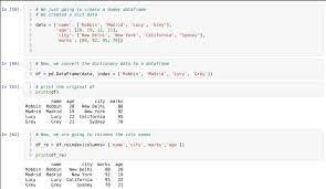 order of columns in pandas dataframe