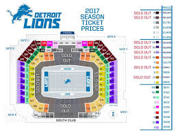 Ford Field Lions Seating Chart Detroit Lions Seating Chart With Seat Numbers Ford Field