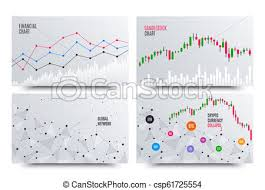 Financial Chart With Line Graph Cryptocurrency Stock Exchange Market Statistics Uptrend Analytics Data Report Vector