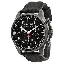 <b>Alpina</b> Startimer Pilot Chronograph Black Dial Men's <b>Watch AL</b> ...
