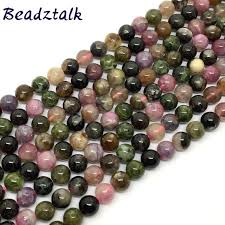 natural multicolor tourmaline stone bracelet natural