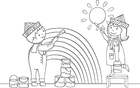 painting coloring pages. Interesting Pages Kids Painting Coloring Page Rainy Day Art Framing Co At Paint Book And Pages For P