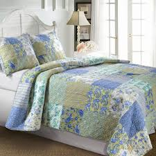 12 best Bedding images on Pinterest | Beach houses, Bedding and Fish & This King size Cotton Paisley Patchwork Quilt Set in Blue Green Yellow  would be a great addition to your home. Vintage Jade reflects the natural  tranquility ... Adamdwight.com