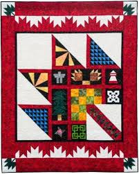 186 best canadian quilts etc images on Pinterest   Maple leaves ... & Multi coloured Purely Canadian quilt - A Story Time Monday Post Adamdwight.com