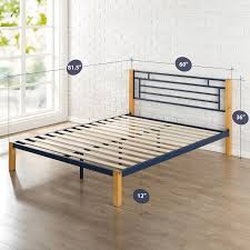 epic metal  wood platform bed  zinus