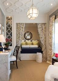 office spare bedroom ideas. Traditional Home Office Turned Into A Gorgeous Guestroom [Design: Robert Frank / Carolyn Reyes Spare Bedroom Ideas U