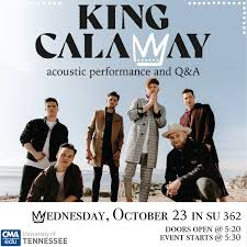 King Calaway Acoustic Performance and Q&A - University of Tennessee,  Knoxville
