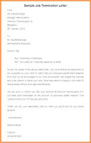 Sample Employee Termination Letter Employment Notice Job For Theft ...