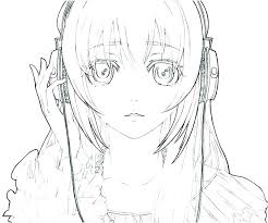 Anime Coloring Pages Girl Sad Girl Coloring Pages Anime Color Pages
