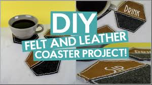diy felt leather coaster project with the cricut maker hand stitching