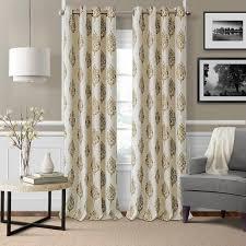 Atticus Ikat Room Darkening Thermal Grommet Single <b>Curtain</b> Panel