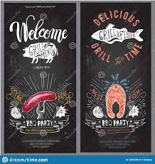 Menu Board Design Fast Food Vector Logo Design Template Hamburger Fish Or