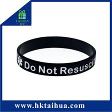 Custom Color Filled Silicone Bracelet Wristband Rubber Band