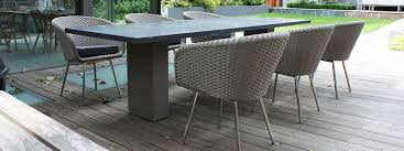Modern garden furniture london fueradentro luxury outdoor furniture doble minimalist pedestal outdoor table