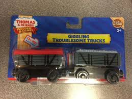 giggling troublesome trucks for the thomas wooden railway system new in sealed p