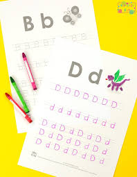 Alphabet Tracing Worksheets ABC - Itsy Bitsy Fun