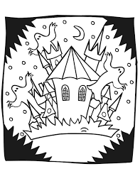 Small Picture Haunted House Coloring Page Haunted Castle