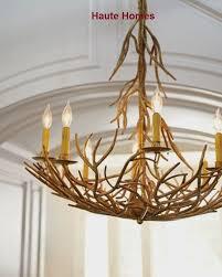 image of iron twig chandelier