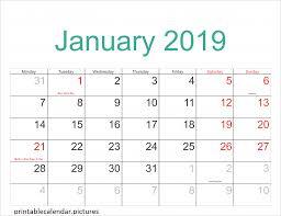Calendar 2019 Printable With Holidays Printable Calendar January 2019 With Holidays Printable Calendar