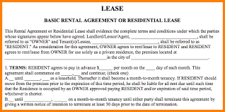 Basic Rental Agreement Or Residential Lease.basic Rental Agreement ...