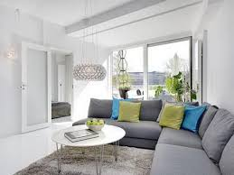 Furniture, Colorful Cushion For Corner Grey Sofa For Modern Living Room  With Round White Coffee Table On : Grey Sofa Living Room Ideas