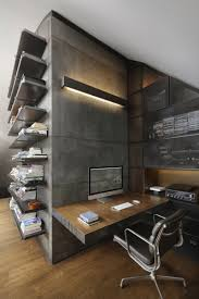 industrial style office. Top 10 Charming Apartments Decorated In Industrial Style Office
