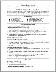 Certified Nursing Assistant Resume Examples Resume Template Info