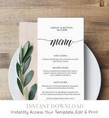Menu Card Template Menu Card Template Rustic Dinner Menu Wedding Menu Card Printable Fully Editable Template Instant Download Diy Templett 020 101wm