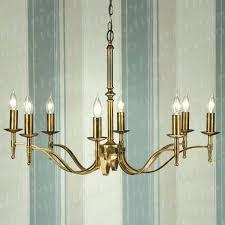 antique brass 8 light chandelier brushed made in spain