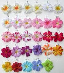 Fabric Plumeria Flower For Lei Leis Color Chart S Buy Hawaiian Plumeria Frangipani Fabric Flower Product On Alibaba Com