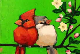 at long last love bird painting by kto art