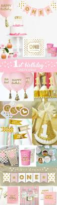 Gold Birthday Decorations Pink And Gold Birthday Decorations Pink And Gold First Birthday