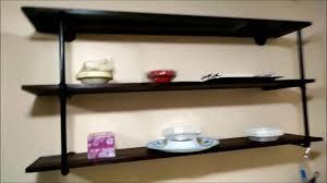 diy black iron pipe rustic industrial kitchen wall mounted shelf you