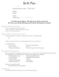 C Section Birth Plan Example Birth Plan Template Simple Uk Home For C Section