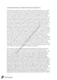 practice essay close passage analysis on a dolls house year  practice essay close passage analysis on a dolls house