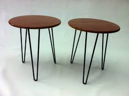 Pair of 20\u2033 Round Mid Century Modern Side Tables \u2013 Atomic Era ...
