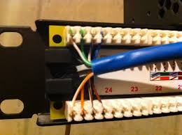 help wiring monoprice cat6 patch panel h ard forum just use 4 top and 4 bottom connections for each cable and follow the color code on their sticker using the lower line on both top labeled b and bottom
